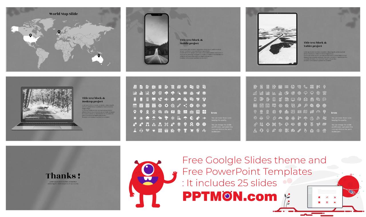 Photographs Presentation background design Free Google Slides Theme PowerPoint Template