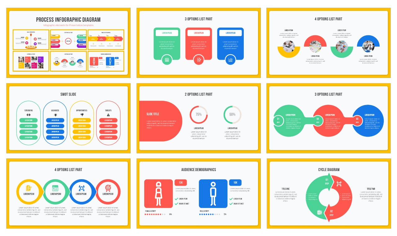 Process Infographic Diagram Free PowerPoint Templates Google Slides Themes