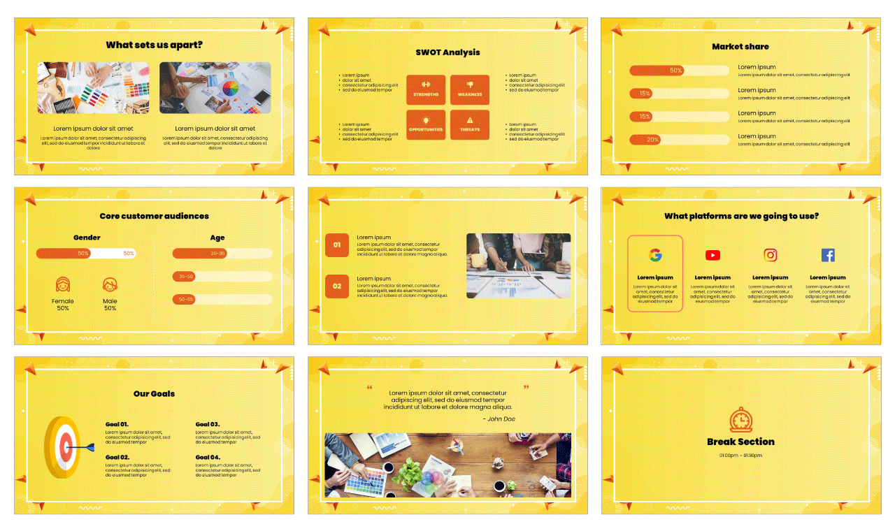Sales Promotion Google Slides Theme PowerPoint Template Free Download