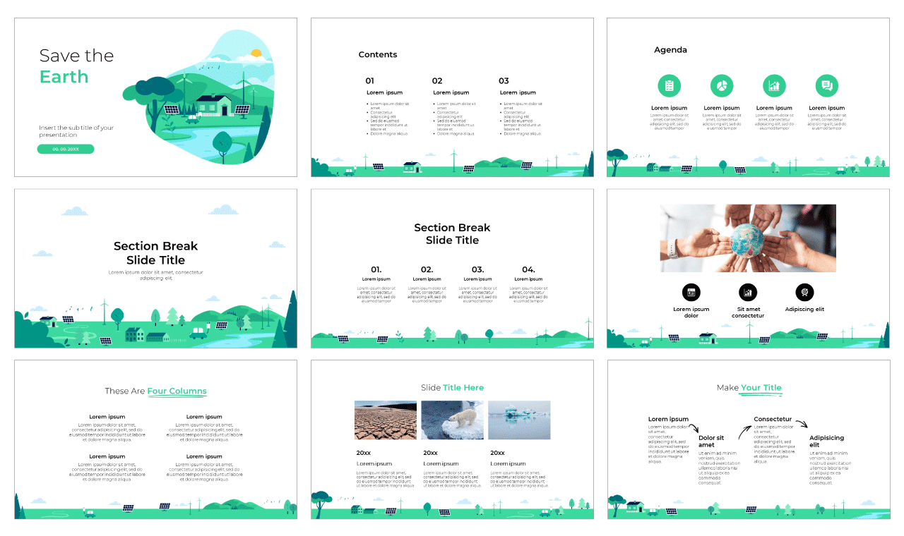 Save the earth Free PowerPoint Templates and Google Slides Themes