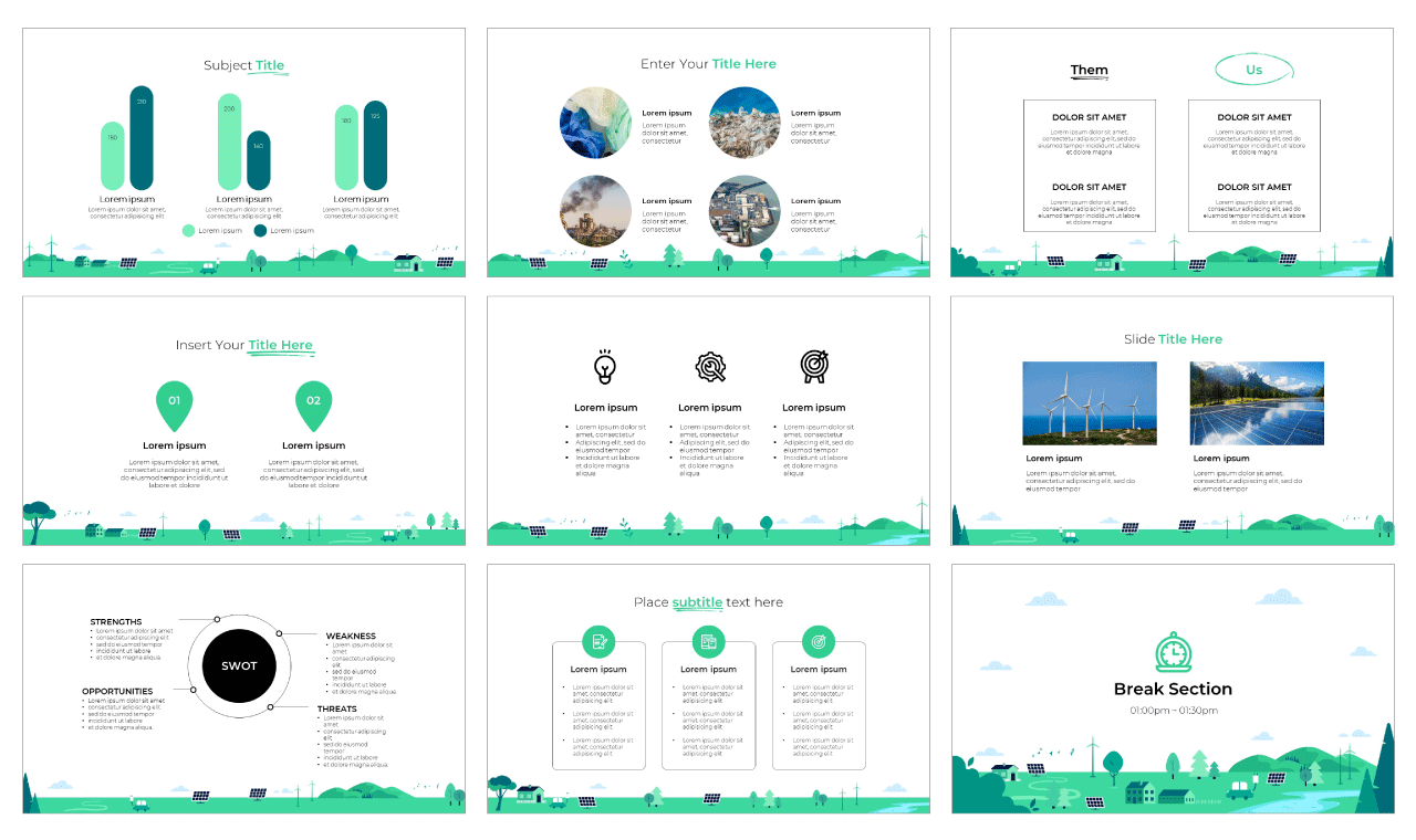 Save the earth PowerPoint Template Google Slides Theme Free download