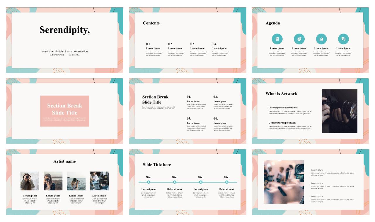 Serendipity Portfolio Free Google Slides Theme PowerPoint Template