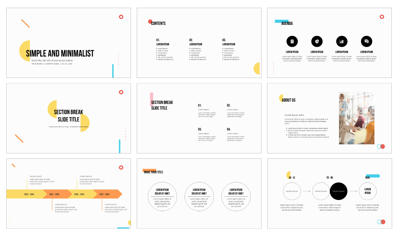 Simple Minimalist Free PowerPoint Template Google Slides Theme