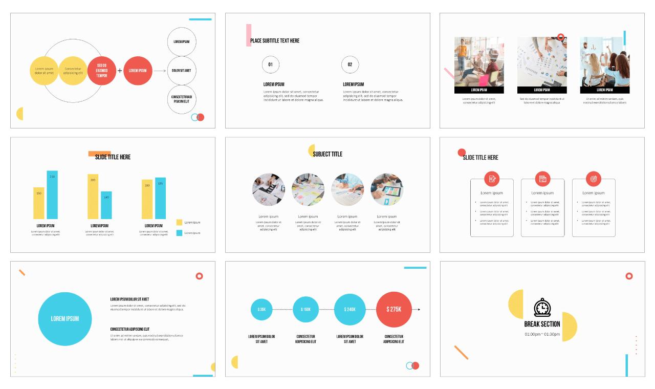 Simple Minimalist PowerPoint Template Google Slides Theme free download