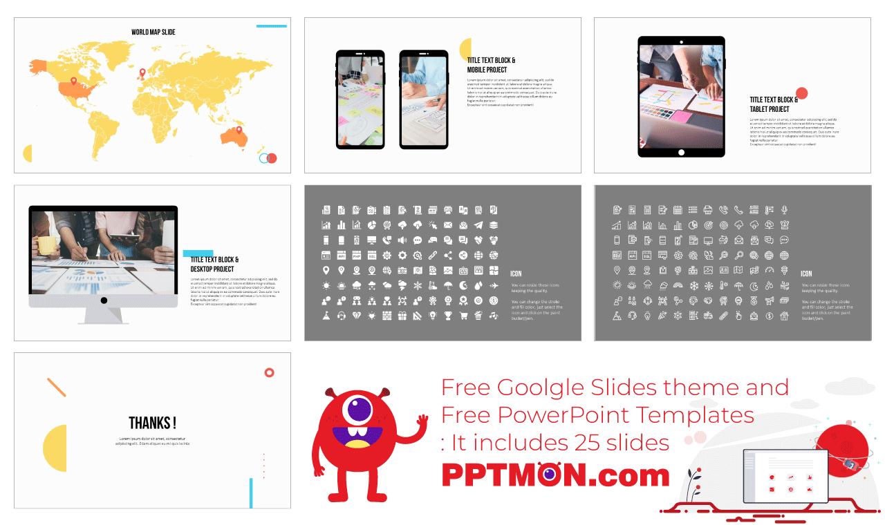 Simple Minimalist Presentation background design Free PowerPoint Template Google Slides Theme