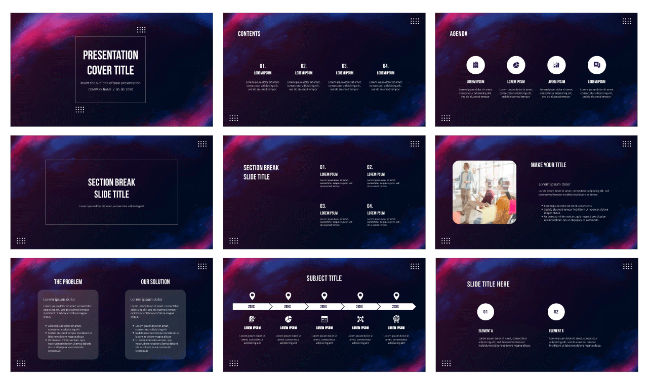 Starry night background Free Google Slides Theme and PowerPoint Template