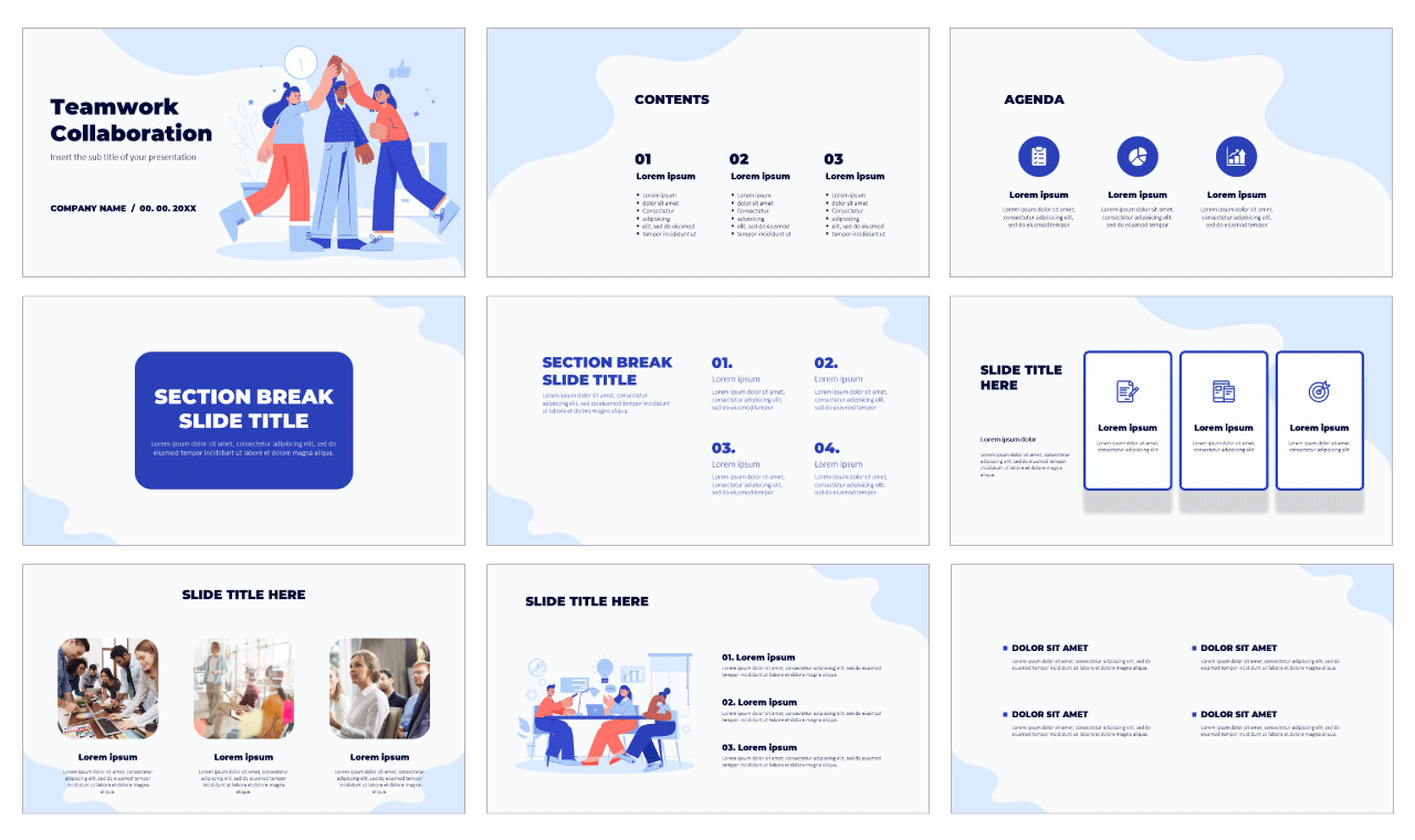 Teamwork Collaboration Free PowerPoint Template Google Slides Theme
