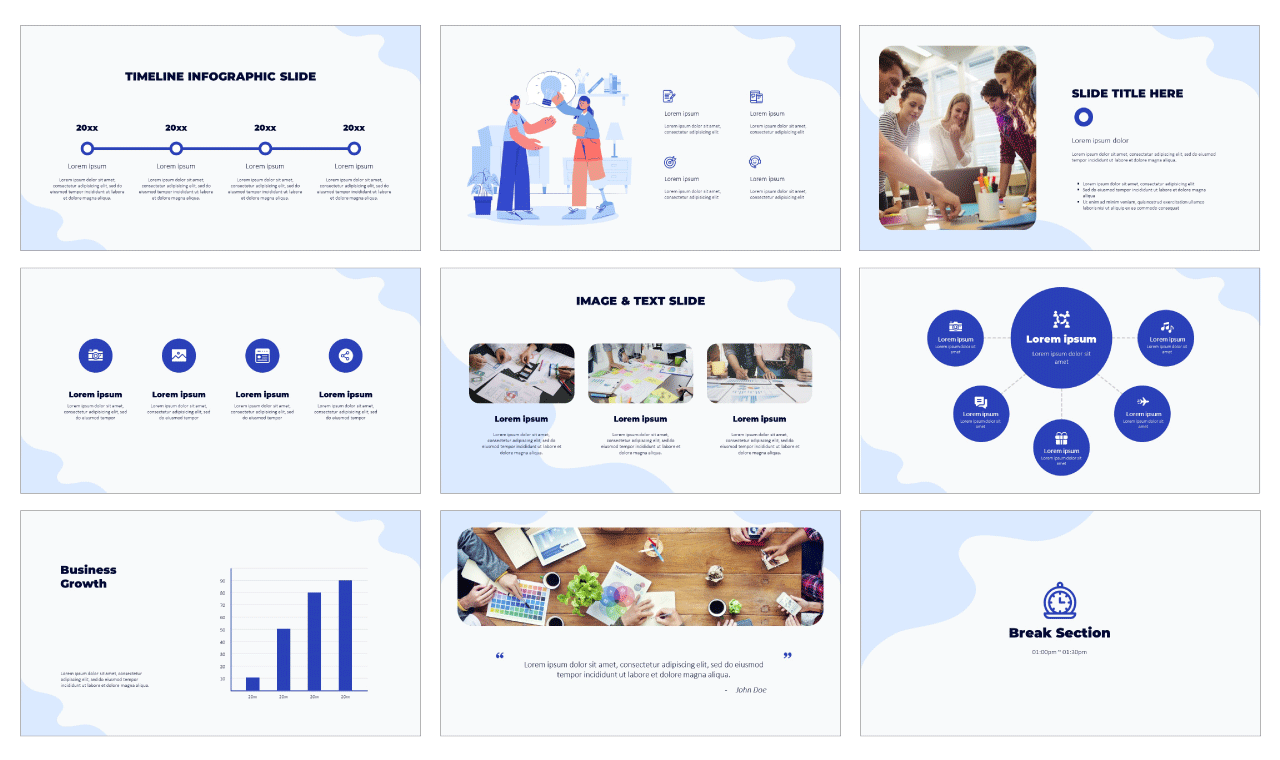 Teamwork Collaboration PowerPoint Template Google Slides Theme Free Download