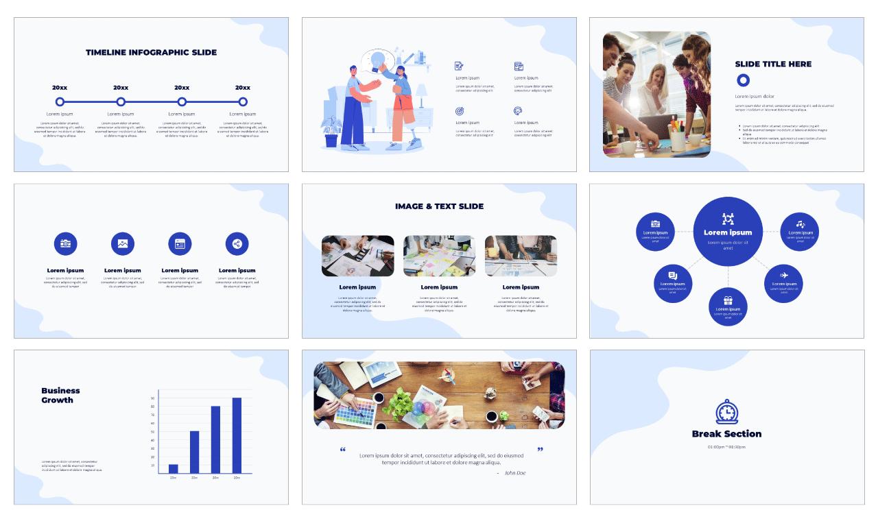 Teamwork Collaboration Presentation Template Powerpoint Google Slides