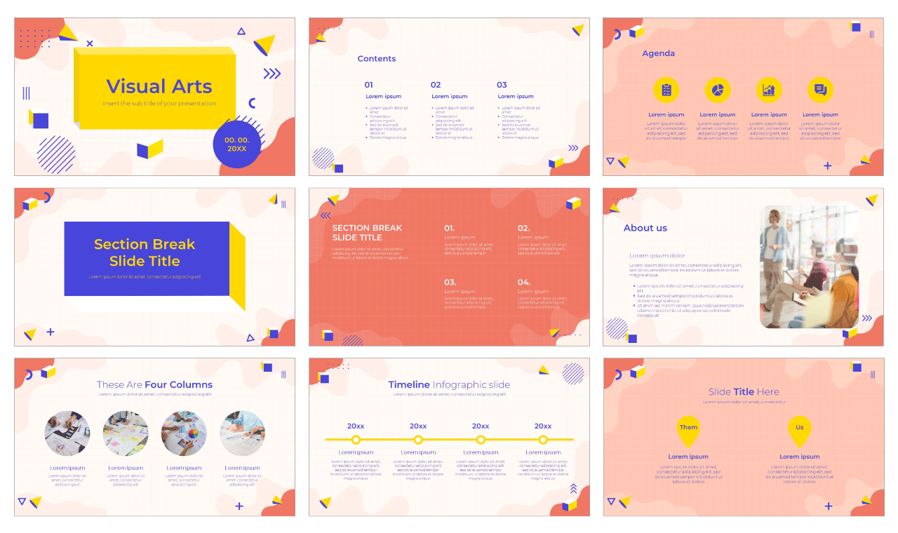Visual Arts Free Google Slides Theme PowerPoint Template