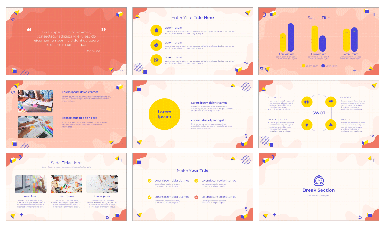 Visual Arts Google Slides Theme PowerPoint Template Free download