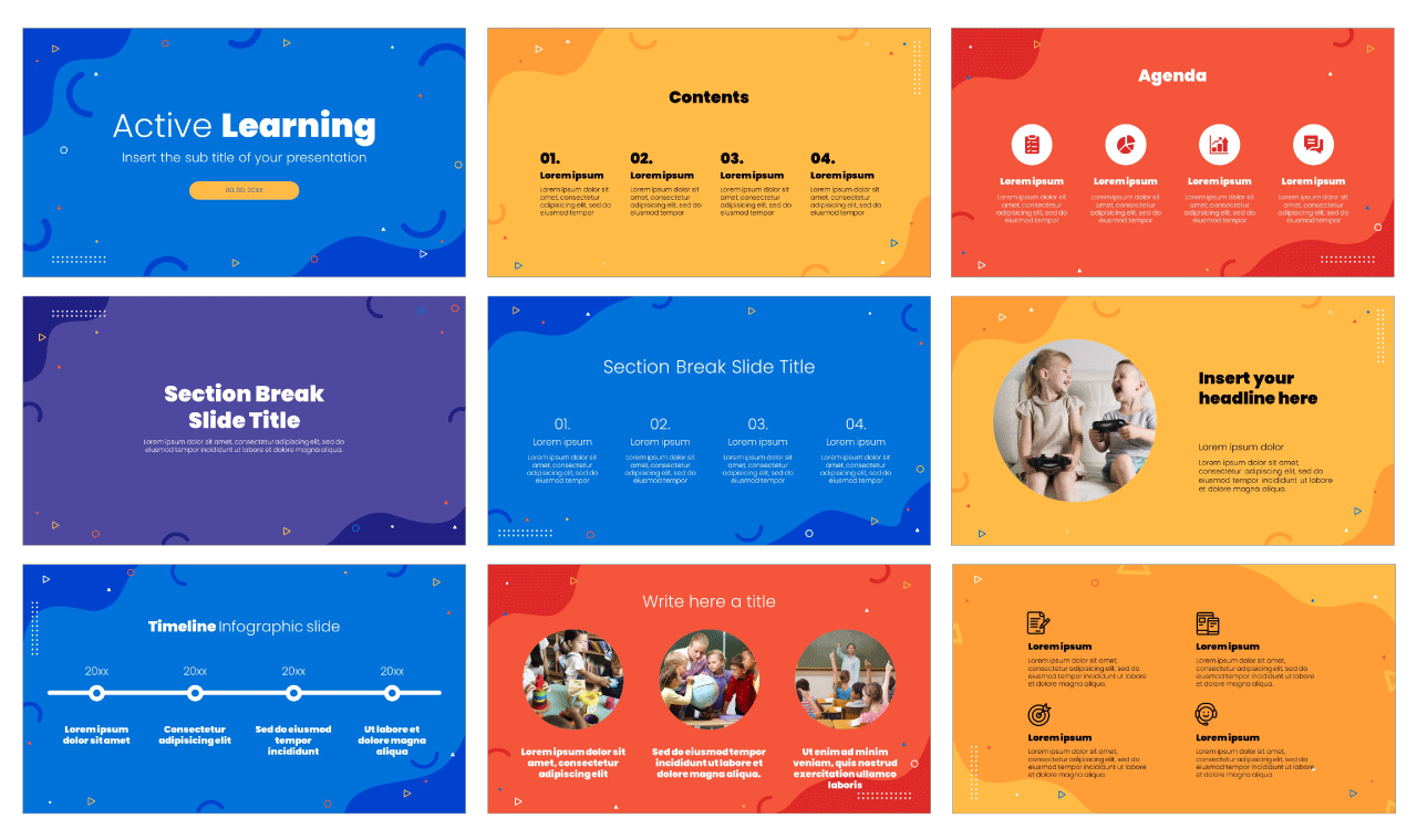 Active Learning Free Google Slides Theme PowerPoint Template