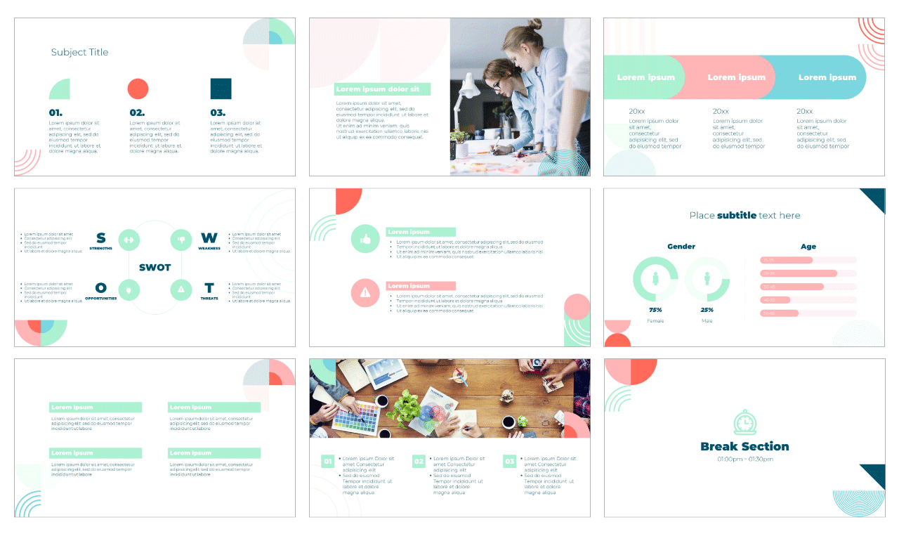 Aesthetic Shape PowerPoint Template Google Slides Theme