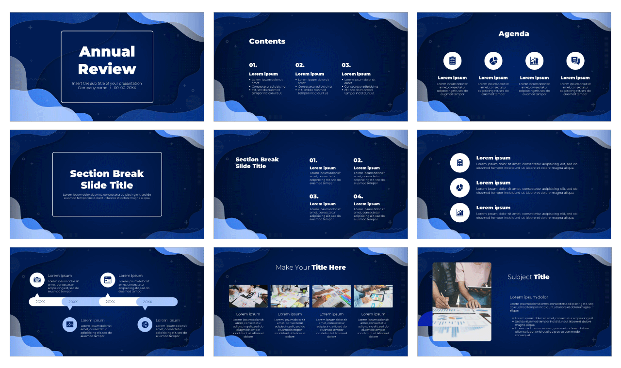 Annual Review Free Google Slides Theme PowerPoint Template