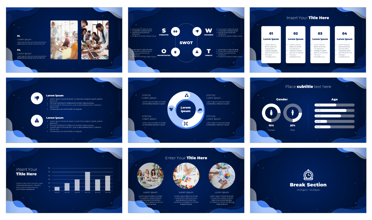 Annual Review Google Slides Theme PowerPoint Template Free download