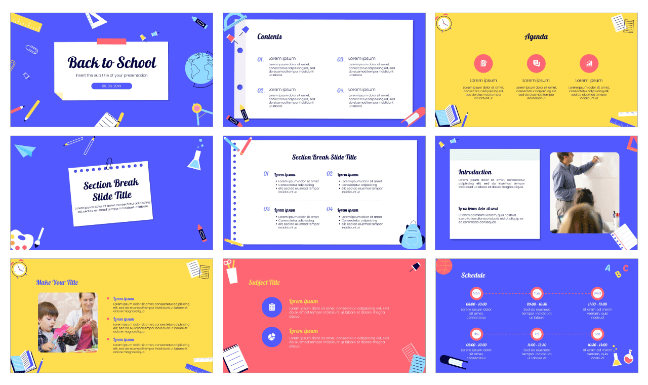 Back to school Free PowerPoint Template Google Slides Theme