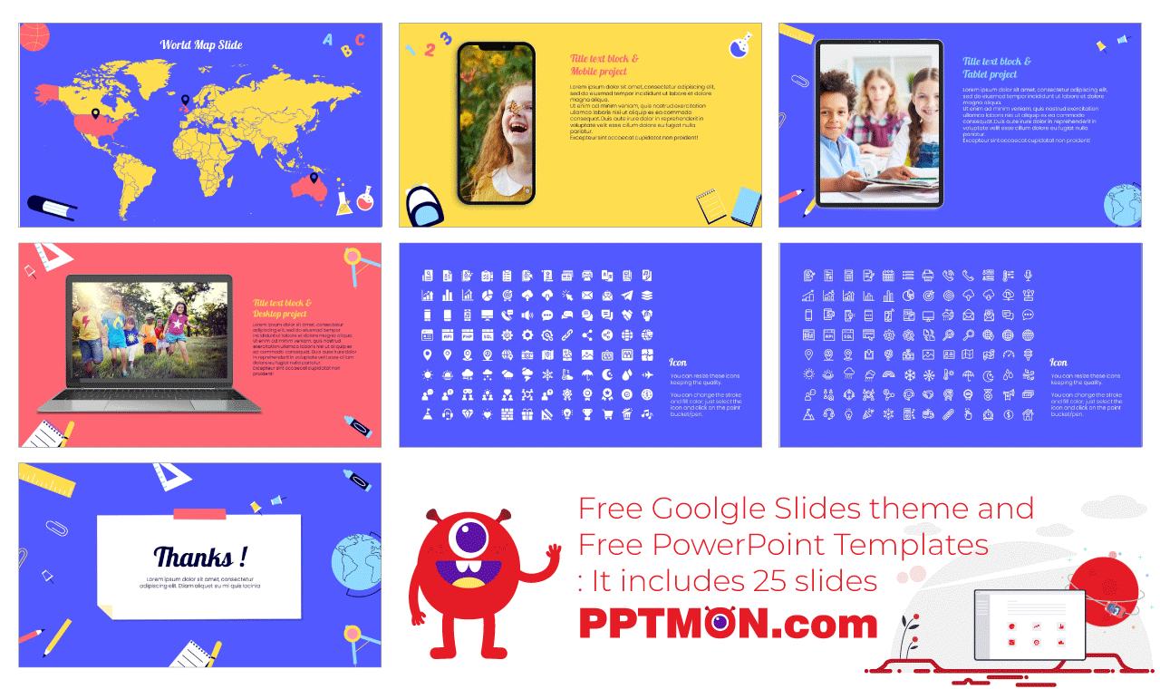 Back to school Presentation background design Free PowerPoint Template Google Slides Theme