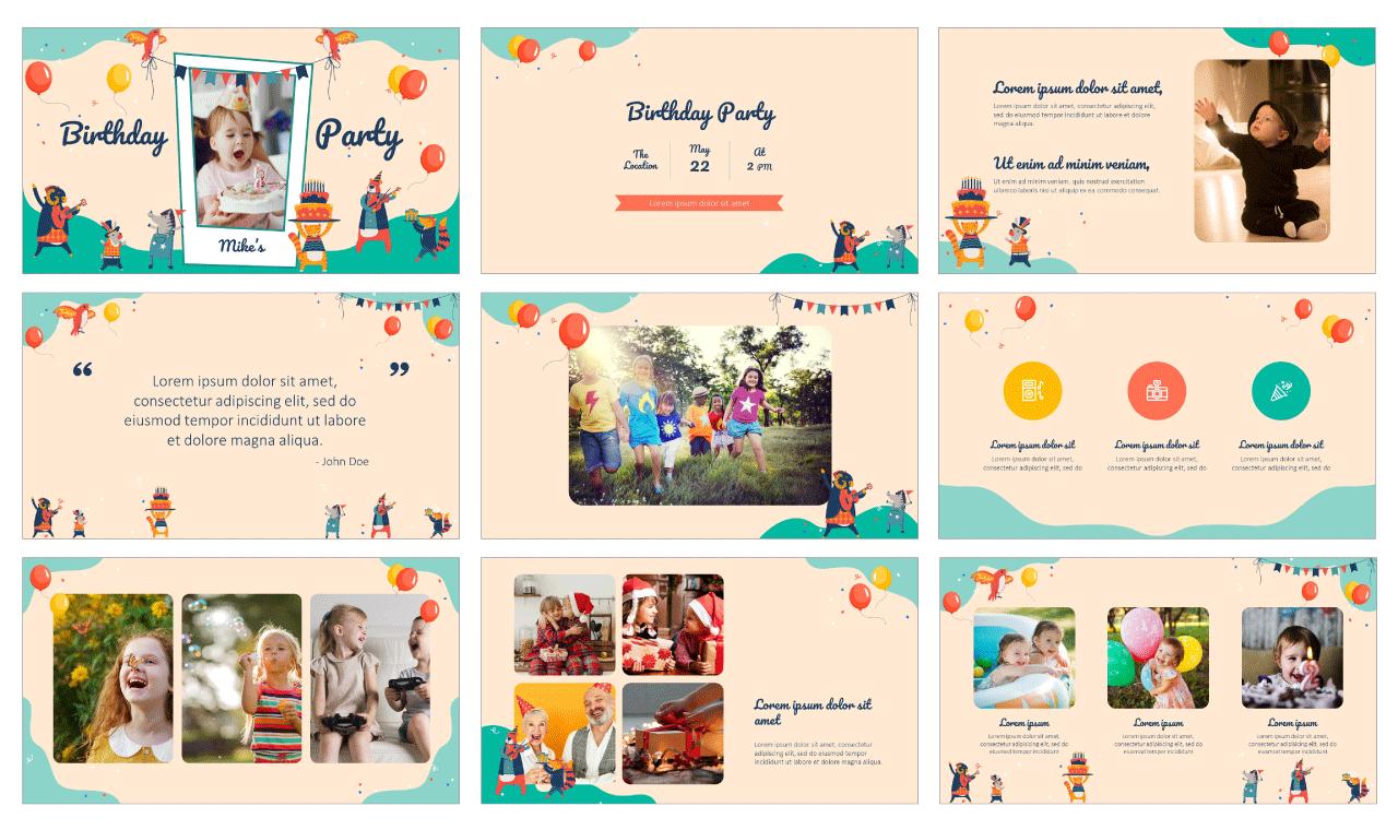Birthday Card Free Google Slides Theme PowerPoint Template