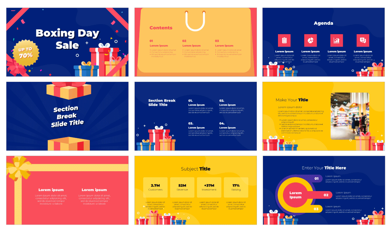 Boxing Day Free Google Slides Theme PowerPoint Template