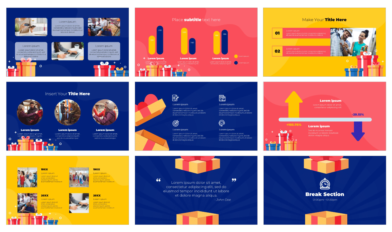 Boxing Day Google Slides Theme PowerPoint Template Free download