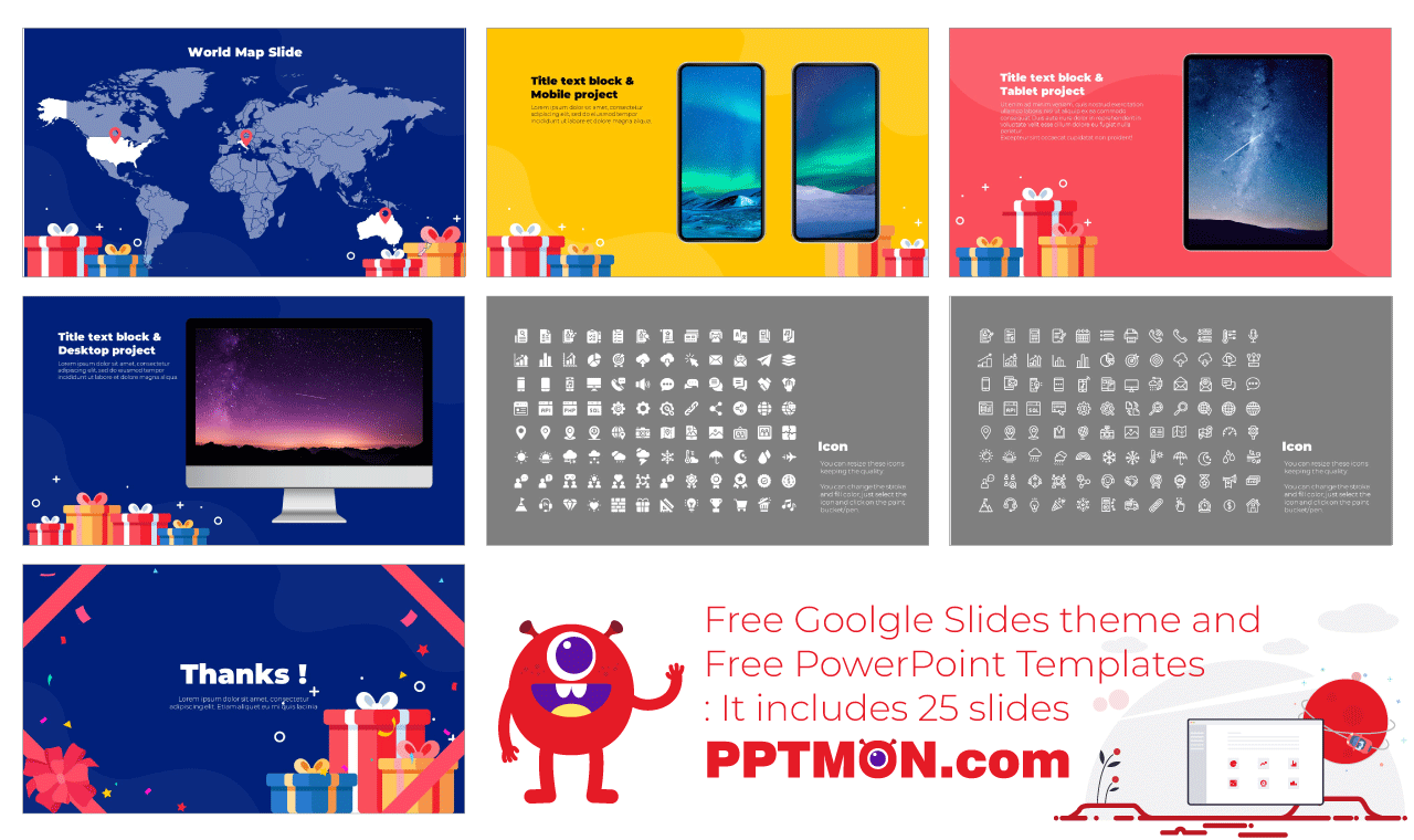 Boxing Day Presentation background design Free Google Slides Theme PowerPoint Template