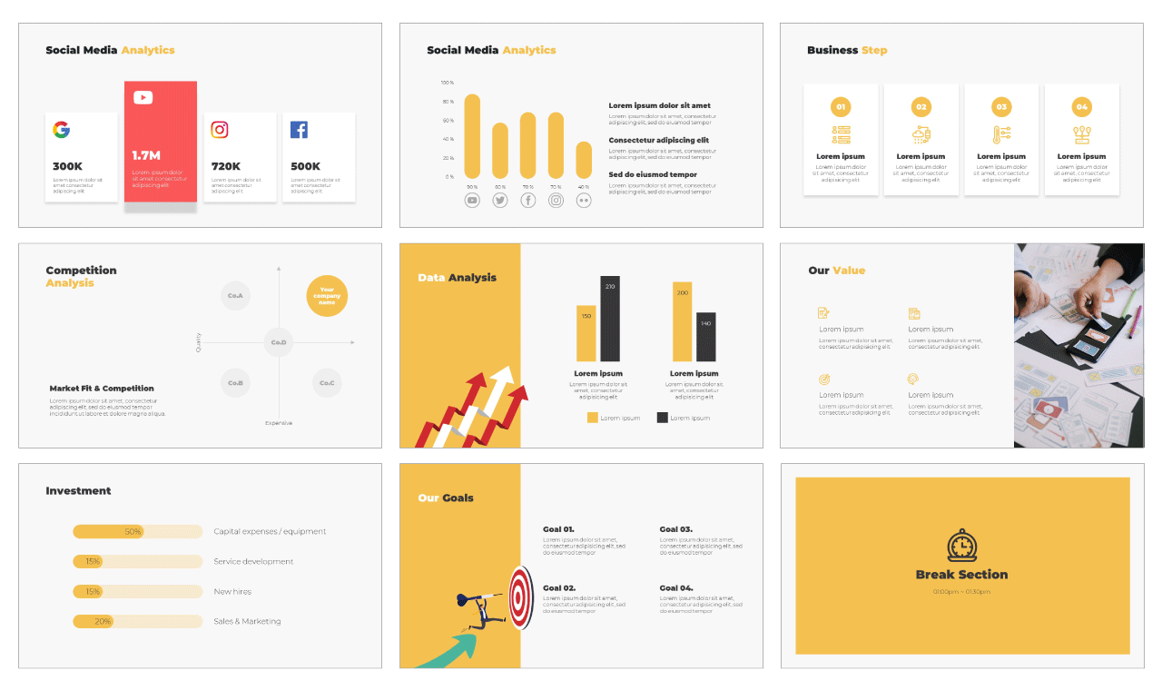 Business Google Slides Theme PowerPoint Template Free download