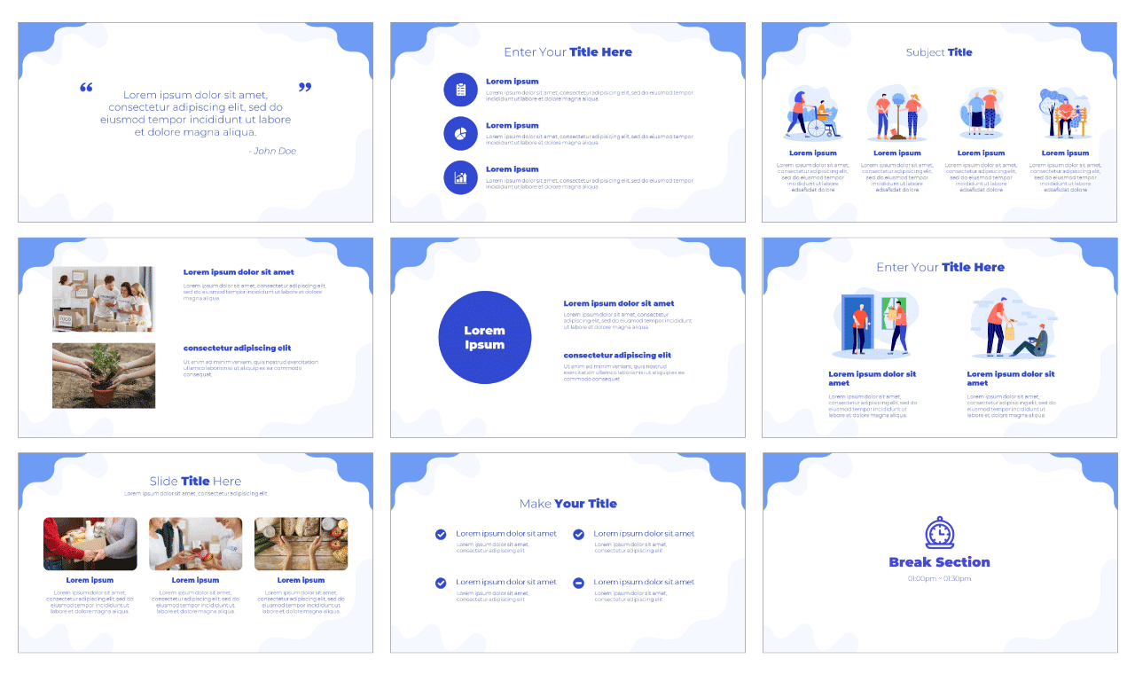 Charity Google Slides Theme PowerPoint Template Free download