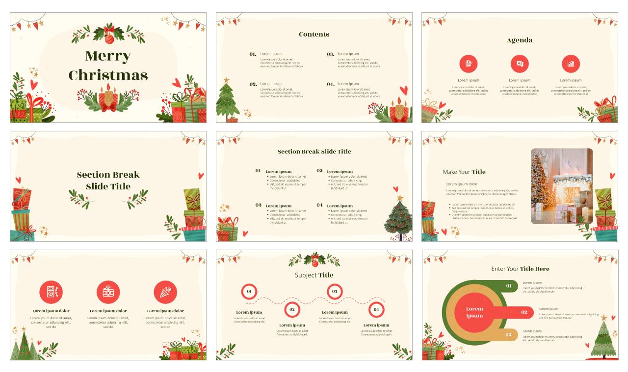 Christmas Free PowerPoint Template Google Slides Theme