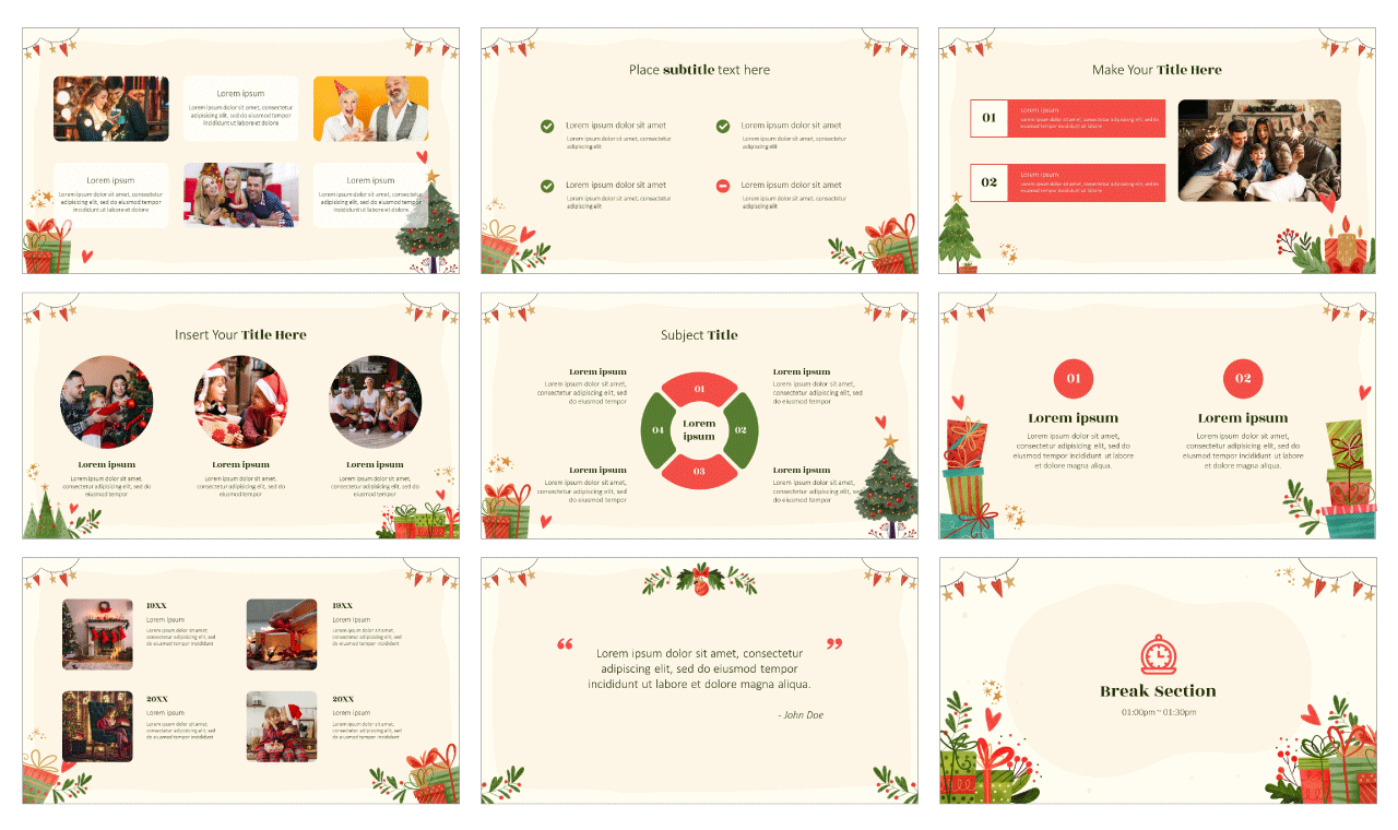 Christmas PowerPoint Template Google Slides Theme Free download