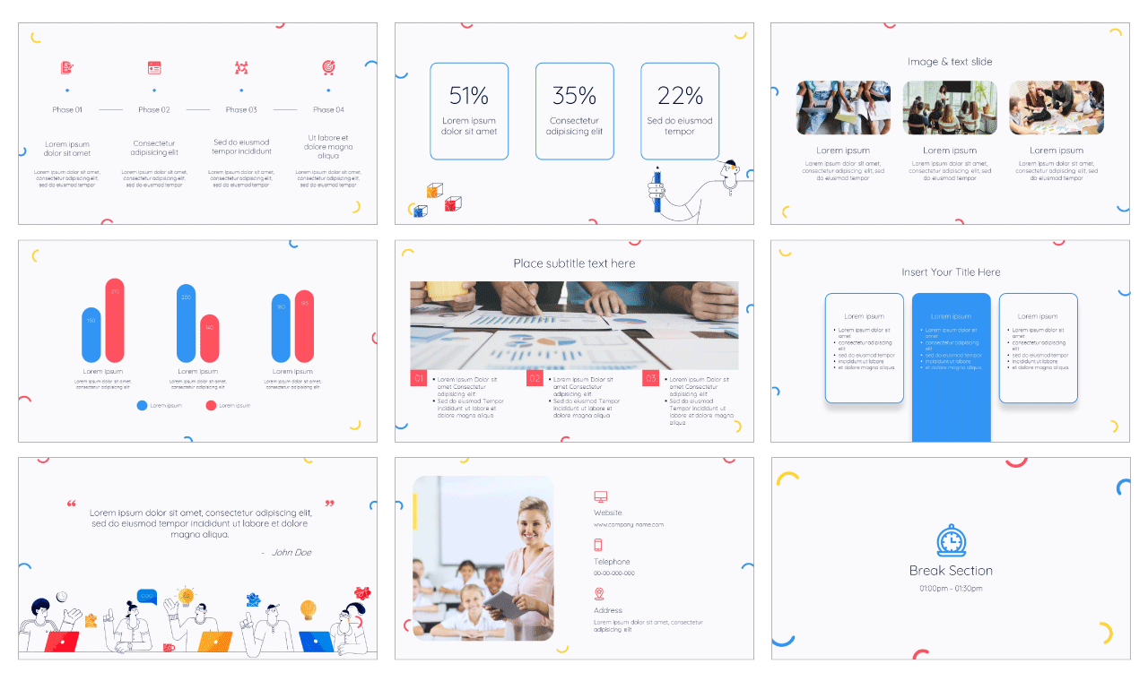 Class Discussion PowerPoint Template and Google Slides Theme