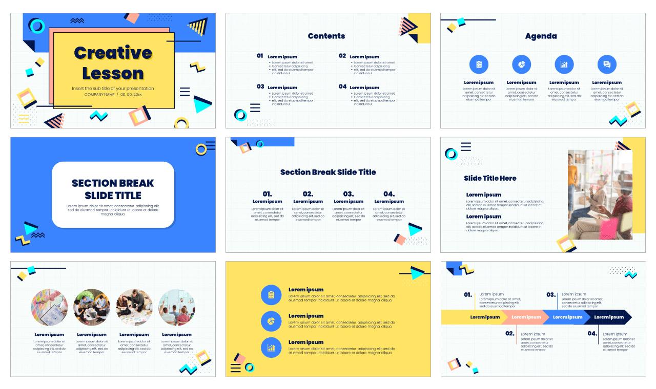 Creative Lesson Free PowerPoint Template Google Slides Theme