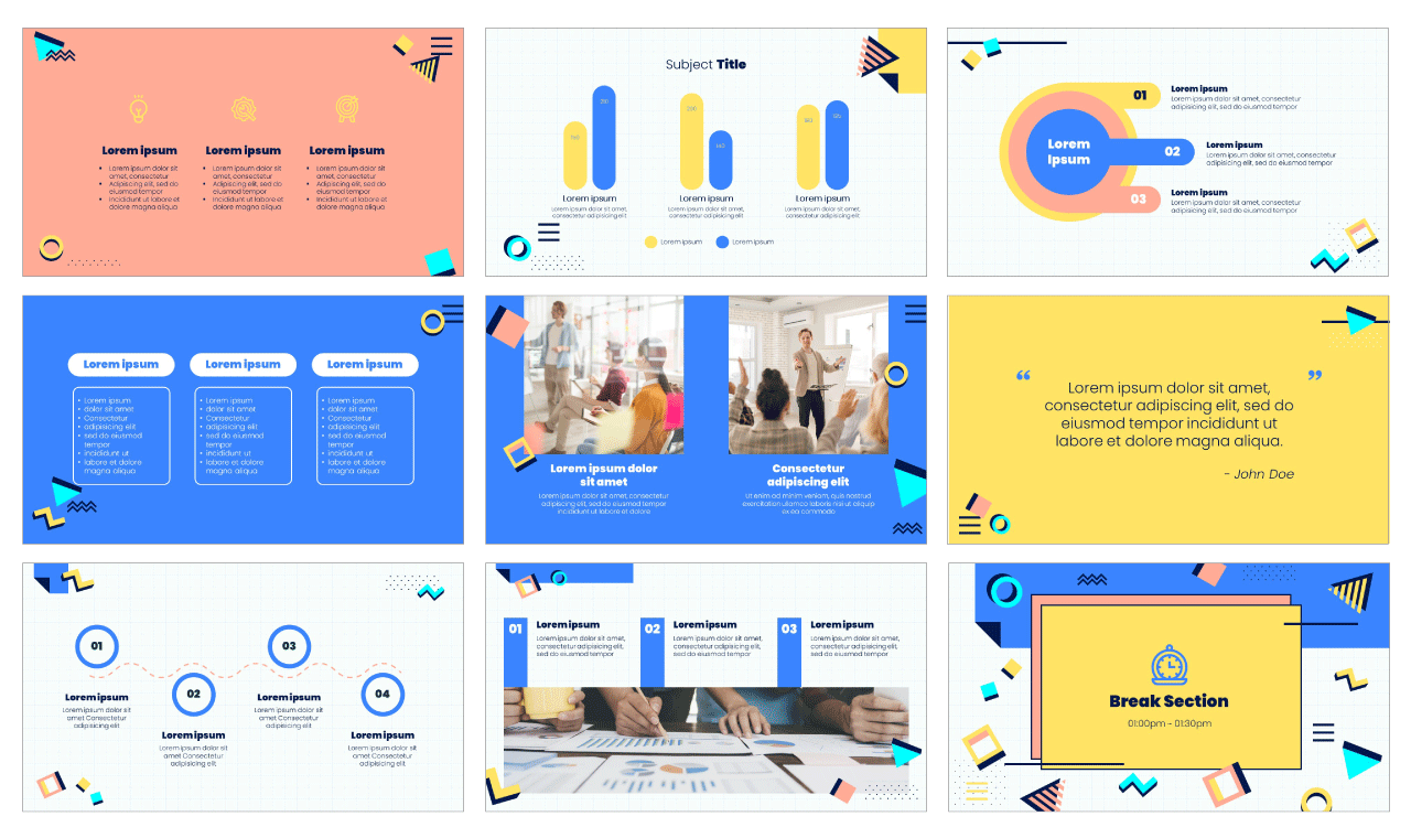 Creative Lesson PowerPoint Template Google Slides Theme Free download
