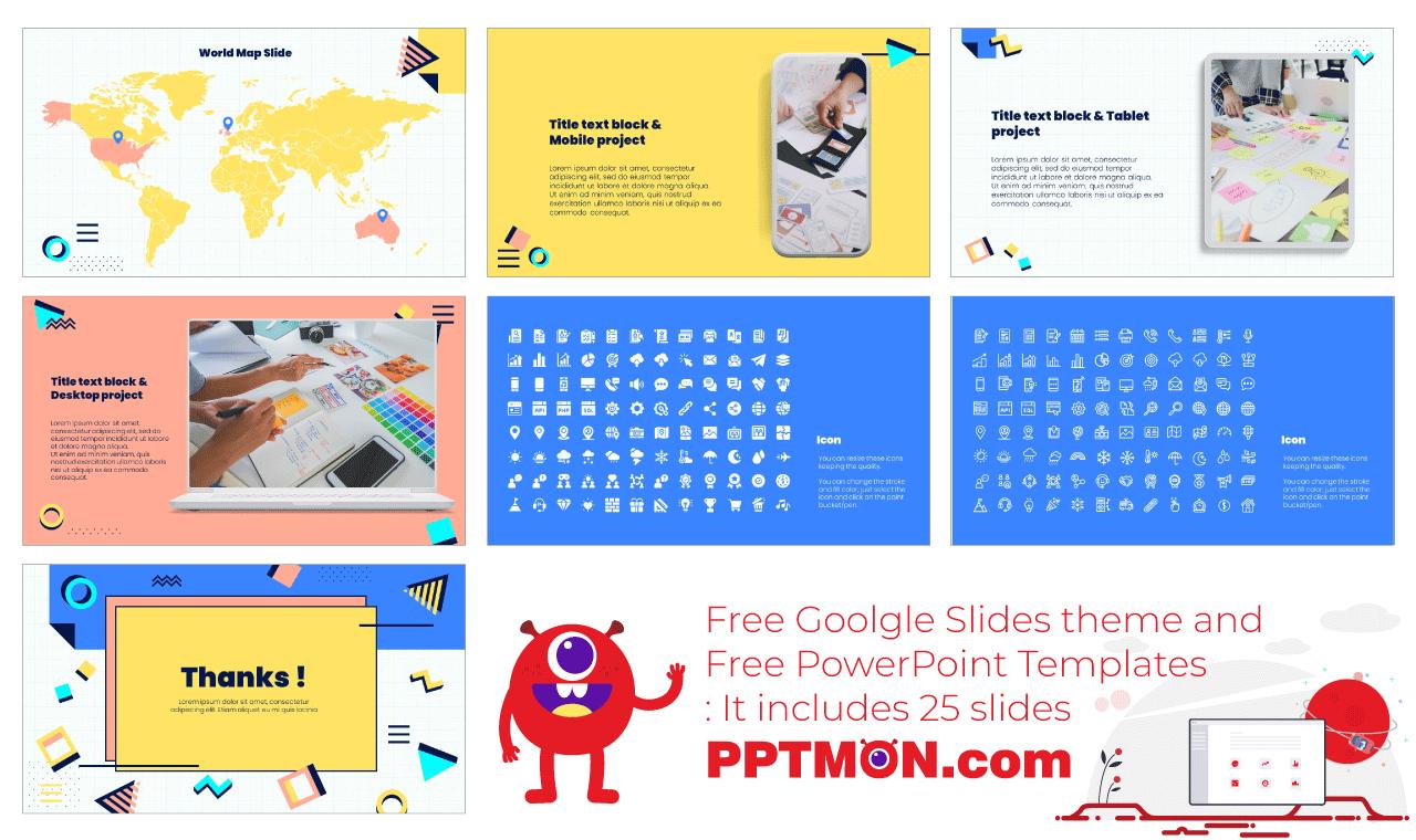 Creative Lesson Presentation background design Free PowerPoint Template Google Slides Theme