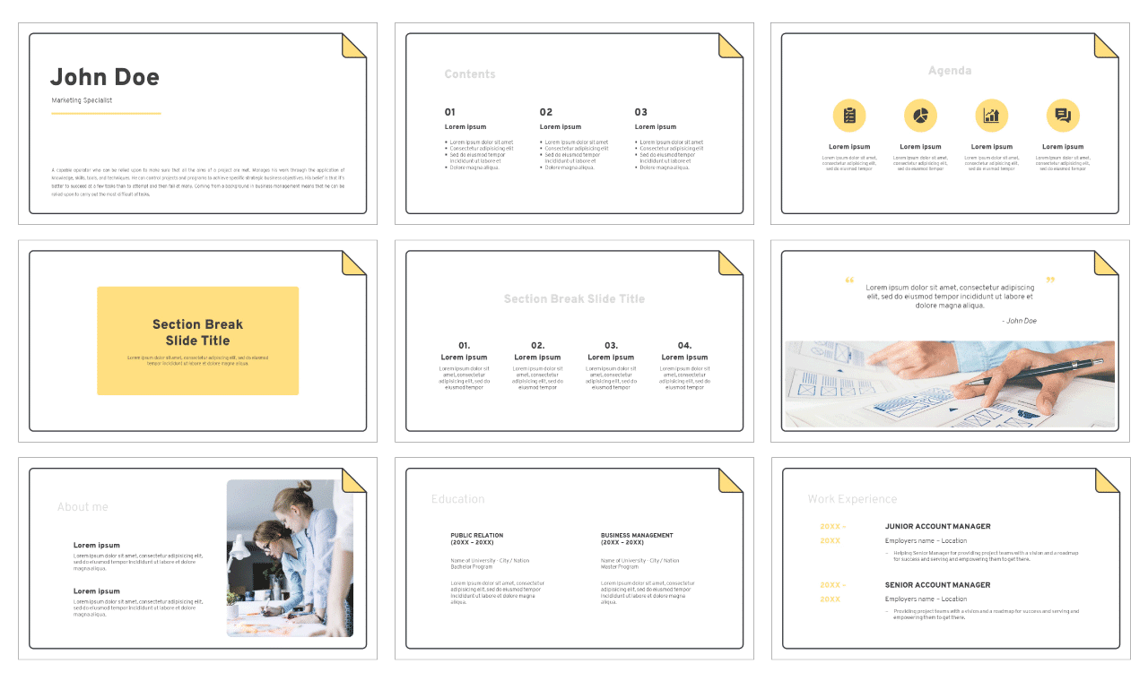 Curriculum Vitae Free Google Slides Theme PowerPoint Template