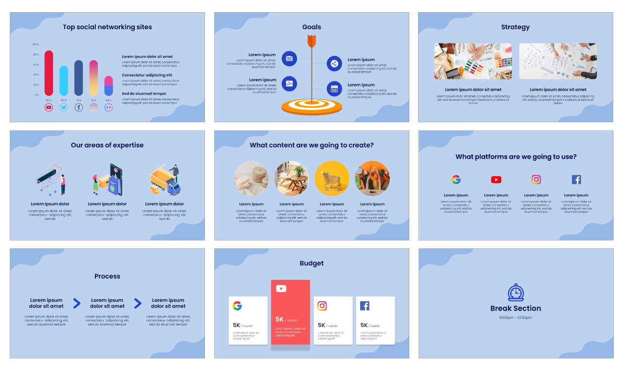 E-commerce PowerPoint Template Google Slides Theme Free download