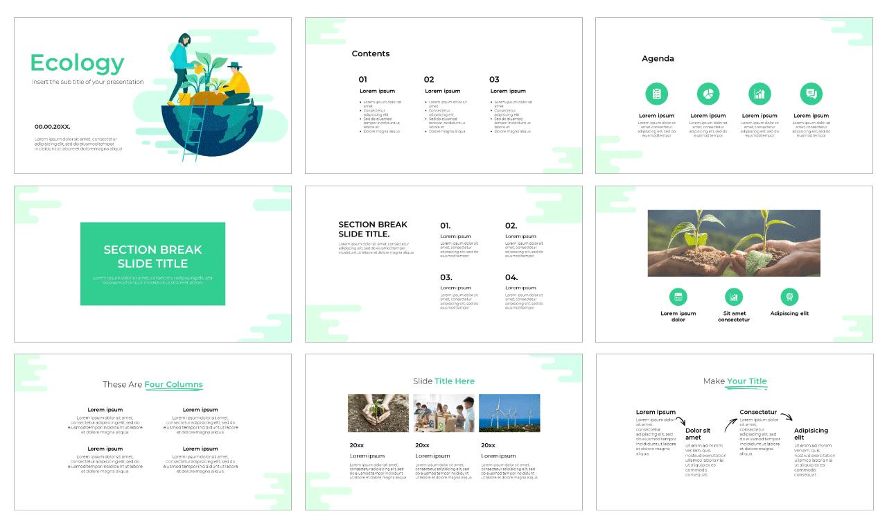 Ecology Free PowerPoint Template Google Slides Theme