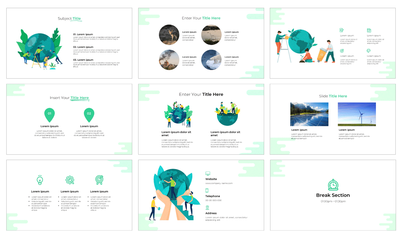 Ecology PowerPoint Template Google Slides Theme Free download