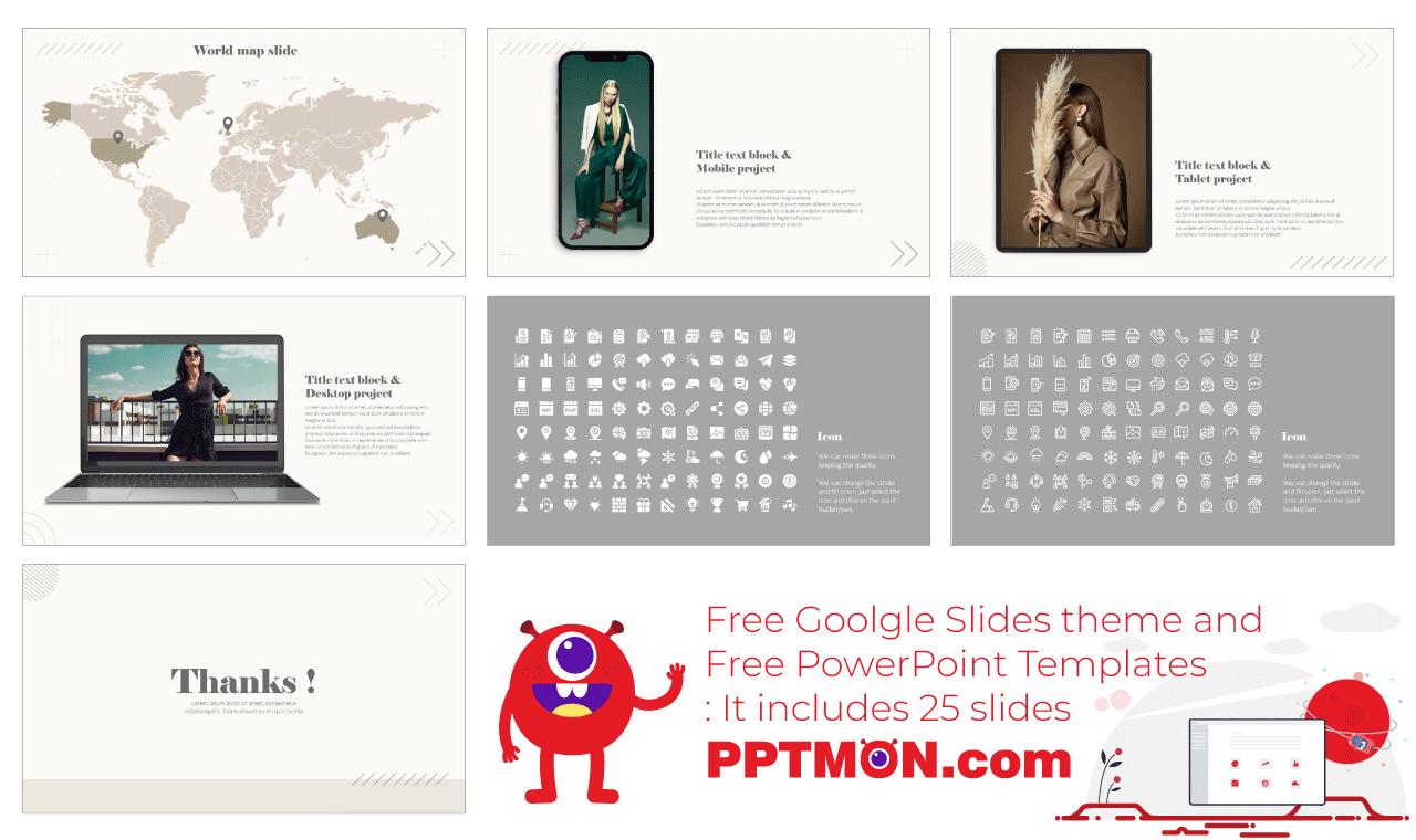 Geometric Portfolio Presentation free background design template