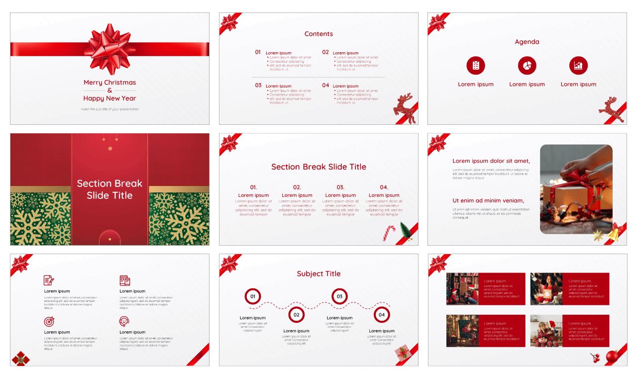 Gift Box Free Google Slides Theme PowerPoint Template