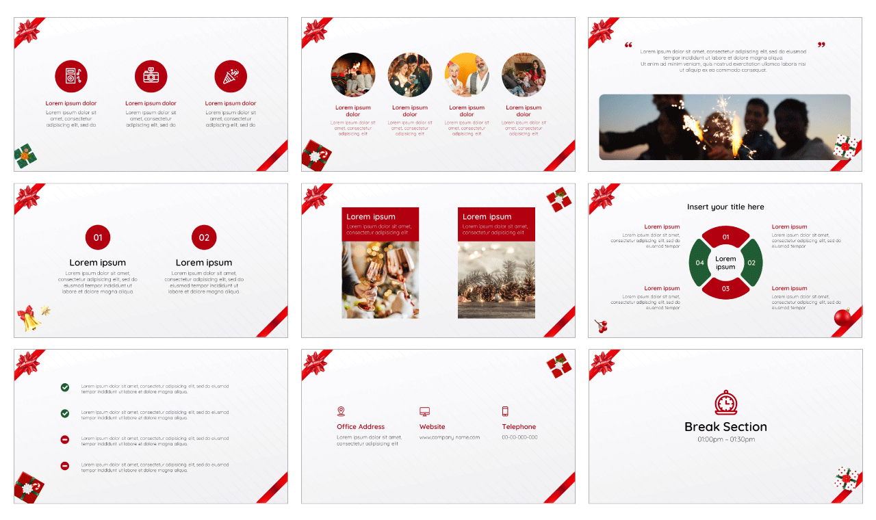 Gift Box Google Slides Theme PowerPoint Template Free download