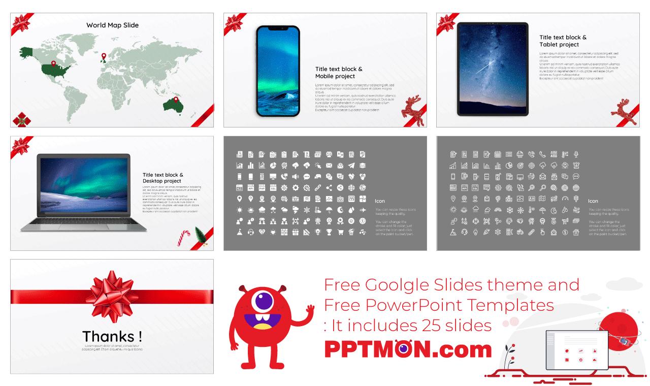Gift Box Presentation background design Free Google Slides Theme PowerPoint Template