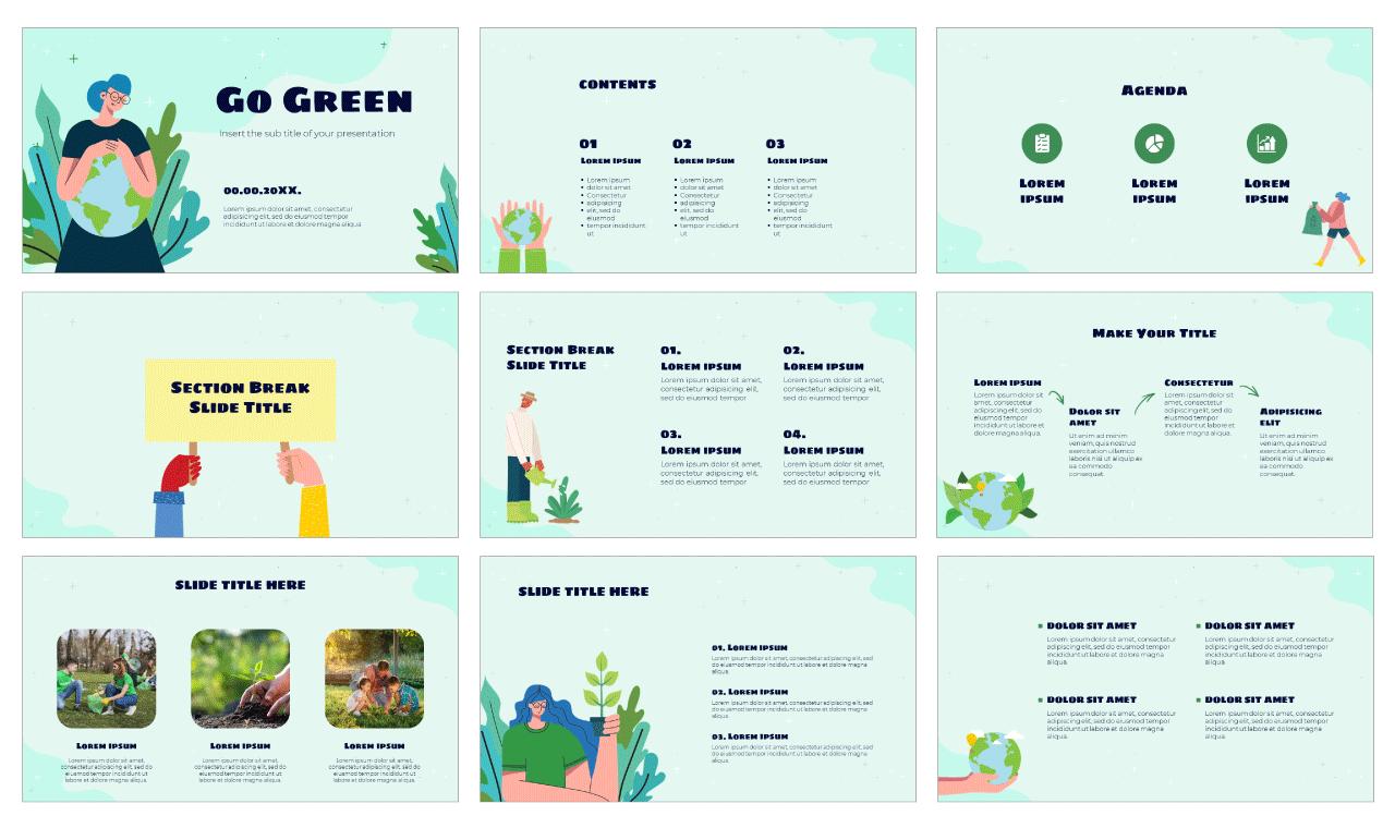 Go Green Free Google Slides Theme PowerPoint Template