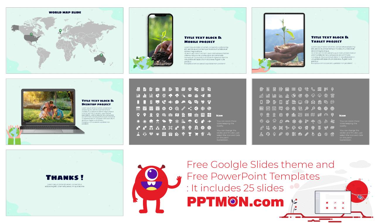 Go Green Presentation background design Free Google Slides Theme PowerPoint Template
