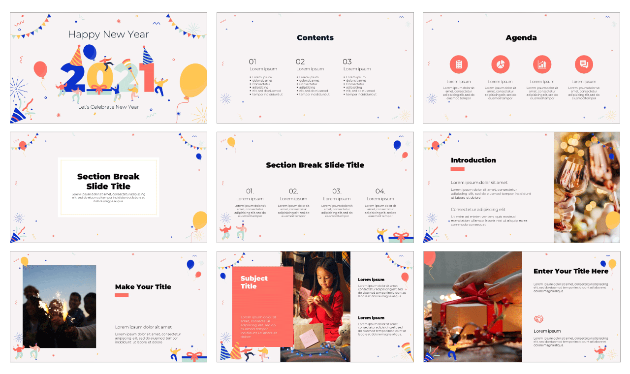 Happy New Year Free Google Slides Theme and PowerPoint Template