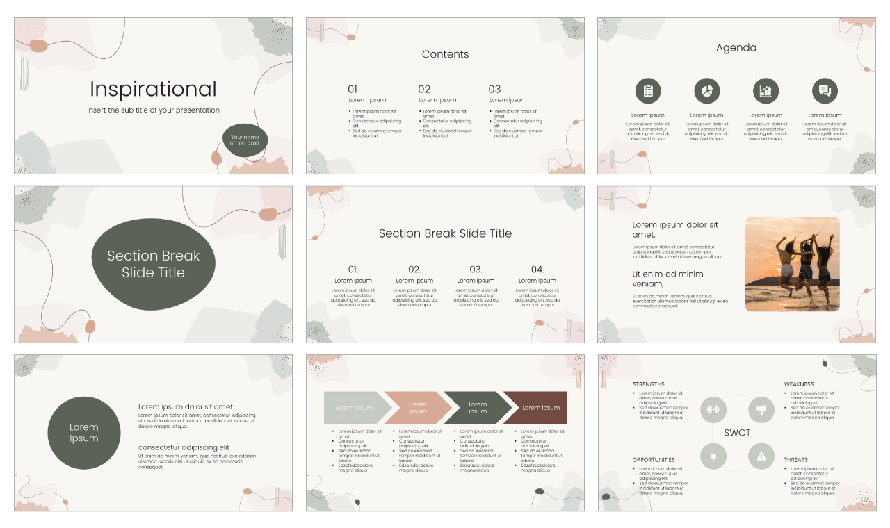 Inspirational Free PowerPoint Template Google Slides Theme