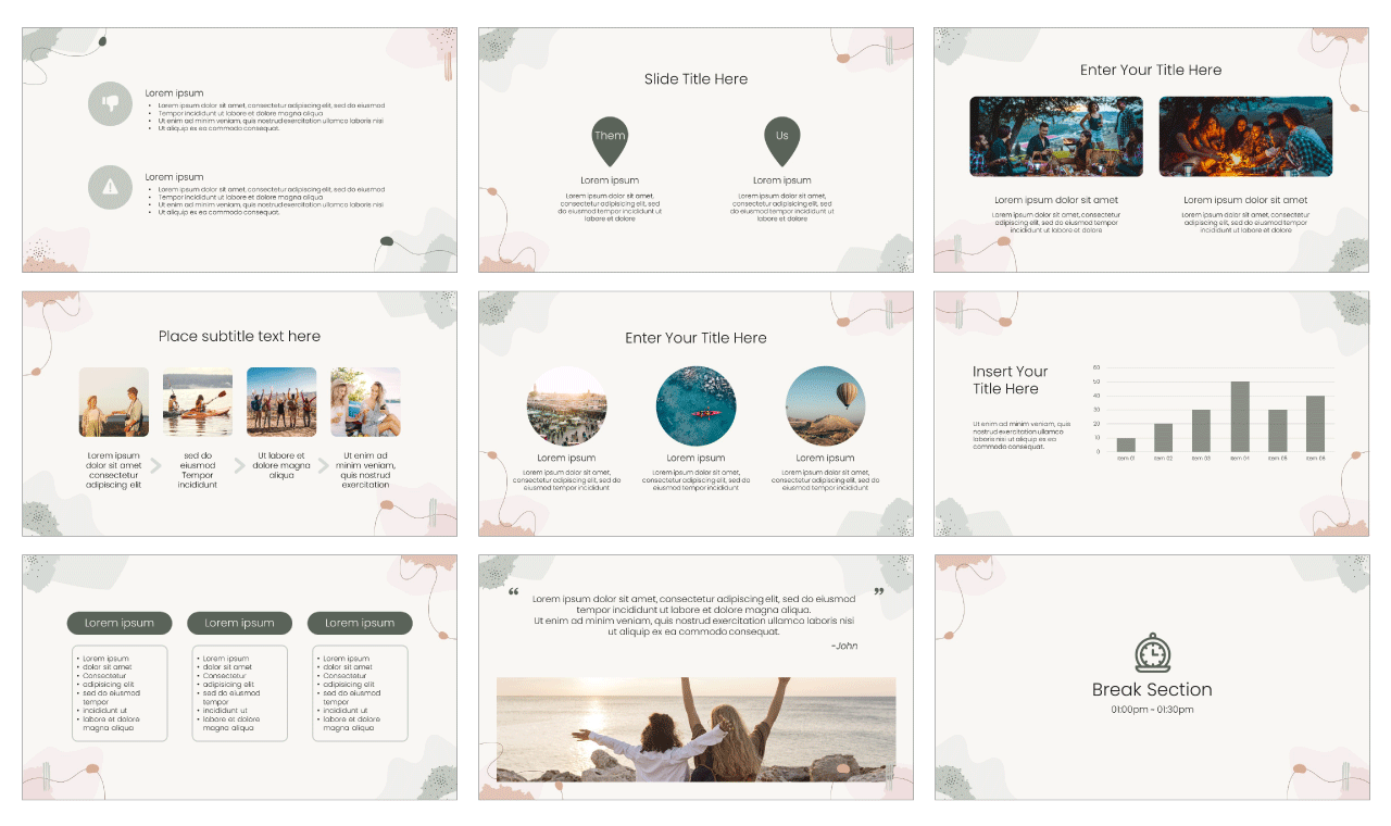 Inspirational PowerPoint Template Google Slides Theme