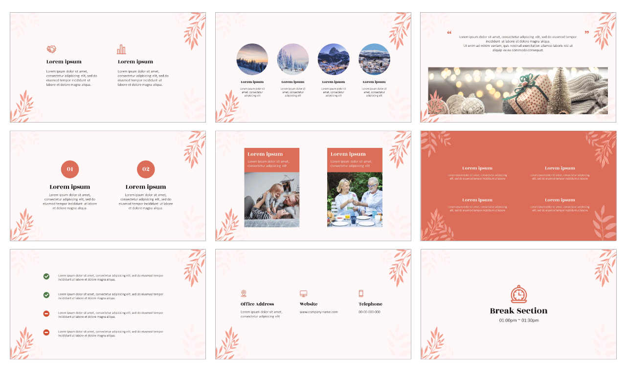 Invitation Card PowerPoint Template Google Slides Theme Free Download