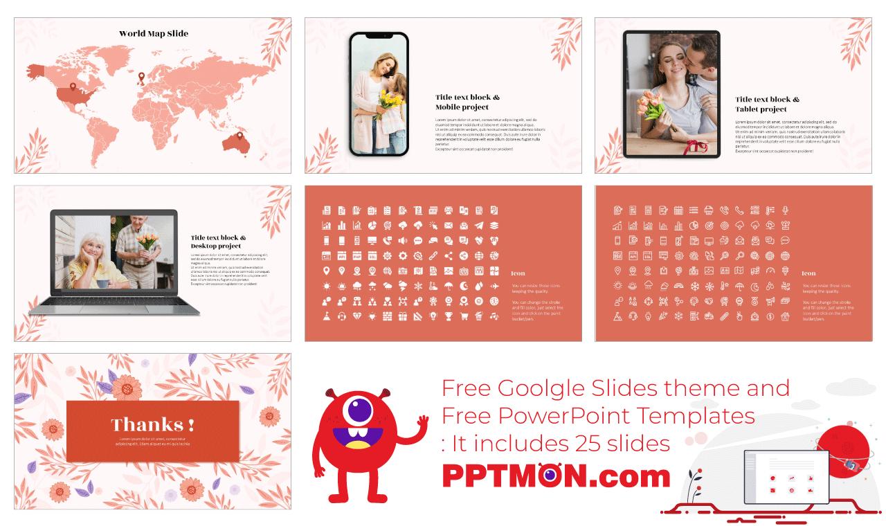 Invitation Card Presentation background design Free PowerPoint Template Google Slides Theme