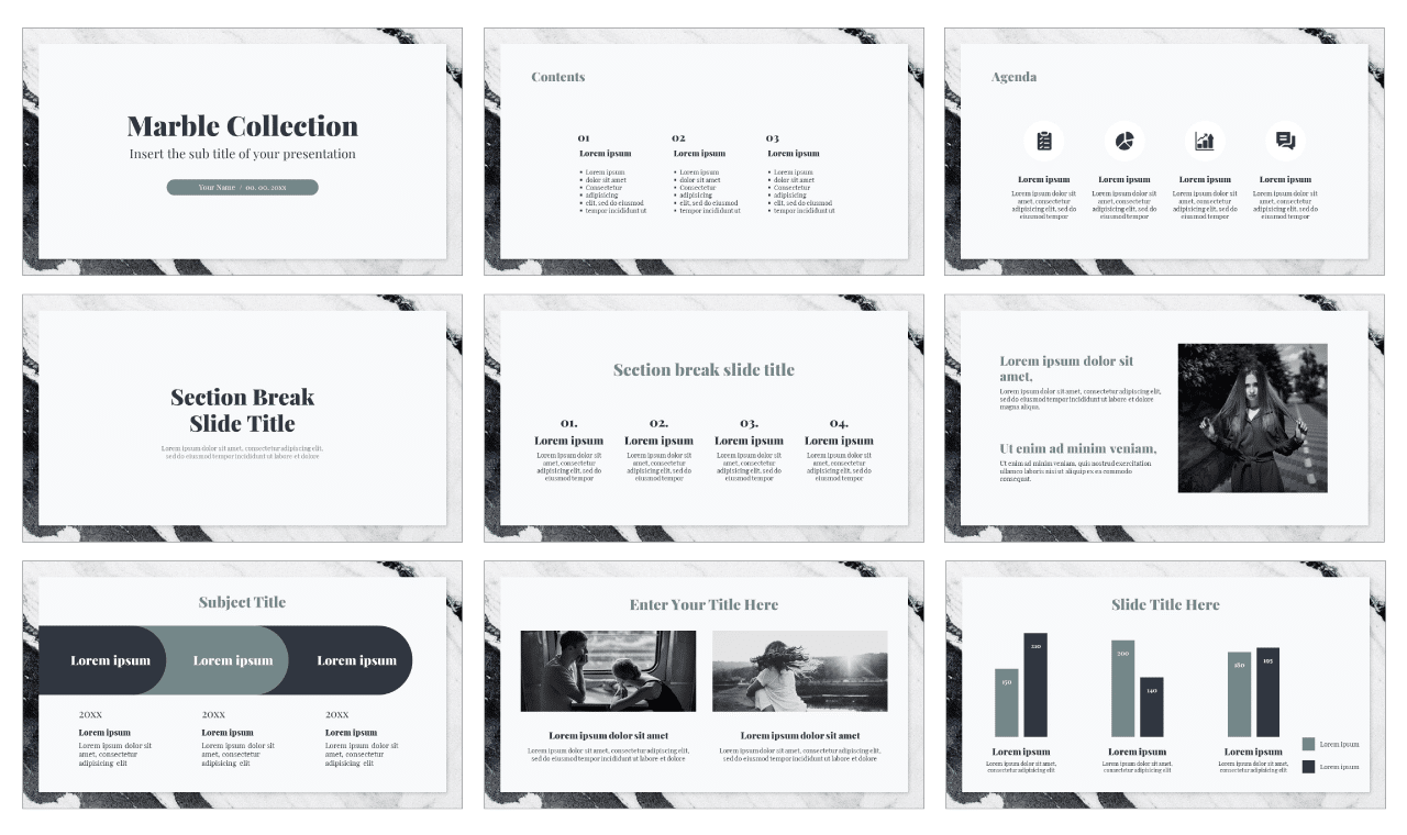 Marble Collection Free Google Slides Theme PowerPoint Template