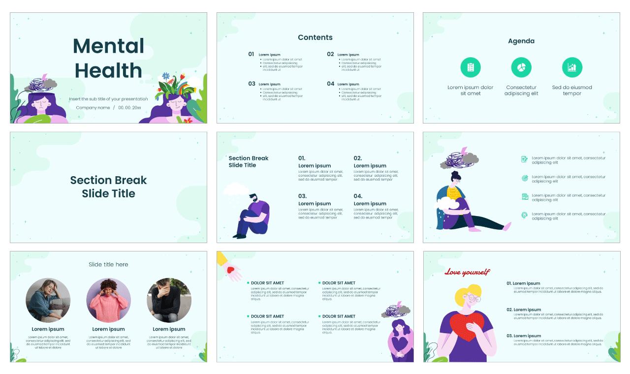 Mental Health Free Google Slides Theme PowerPoint Template